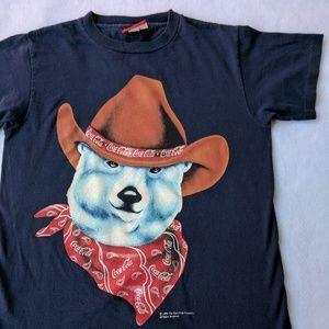 Vintage 90's Coca-Cola Cowboy Polar Bear T-Shirt